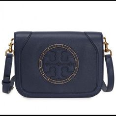 0290d02af2af Get the trendiest Cross Body Bag of the season! The Tory Burch Navy Blue Cross  Body Bag is a top 10 member favorite on Tradesy.