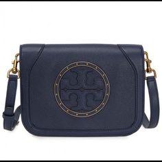 7e188ccf6324 Authentic Tory Burch Crossbody Bag Navy Crossbody Bag
