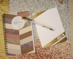 Sparkly personalized stationery = awesome gift idea.