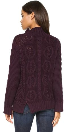 525 America Hand Knit Mock Turtleneck Sweater | SHOPBOP
