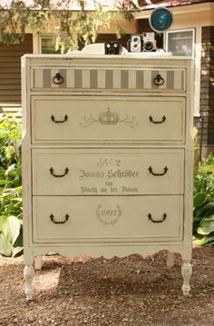 stenciled dresser no. 1