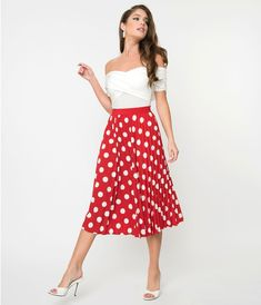 95c8f9e9f3 10 Best Red polka dot skirt images in 2018 | Disney clothes, Red ...