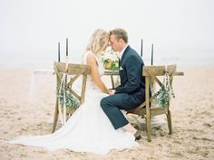 Outdoor reception at destination/beach wedding - Romantic Sea-Inspired Style Shoot | WeddingDay Magazine