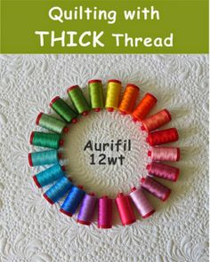 It is possible to machine quilt with all of the Aurifil thread weights!.
