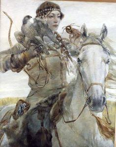 Volga-Bulgar female warrior
