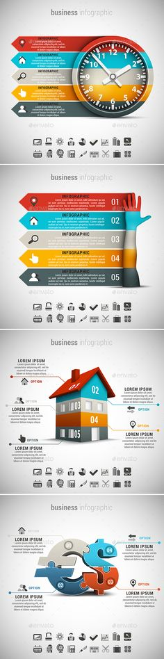 Buy 4 in 1 Business Infographics Bundle by grki on GraphicRiver. Vector set of different business infographics. 22 icons inside each file. Infographic Template Powerpoint, Infographic Resume, Business Infographics, Free Infographic, Infographics Design, Snapchat Template, Diagram Chart, Brand Fonts, 4 In 1