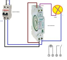Esquemas eléctricos: reloj horario conexion