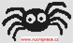 Spider, free cross stitch patterns and charts - www.free-cross-stitch.rucniprace.cz