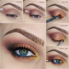 Maquillaje otoñal de día con sombras naranjas-Tutorial
