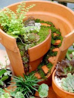 Flower pot fairy garden. So cute for little girls to make