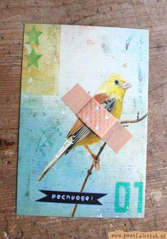 ~Leuke beterschapskaart-inspiratie: voor een pechvogel~
