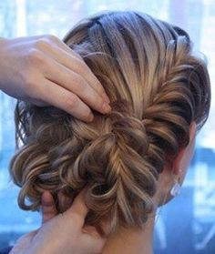 Fishtail Updo so cute& every day wearable