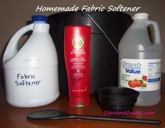 DIY Homemade Fabric Softener. I'ma make this.