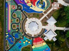 Top playgrounds around the world --including one right here! -- I love this playground and my little one calls it the rainbow park.