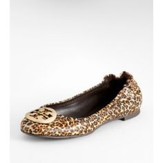 Tory burch leopard reva flats Gently used, lots of life left! Tory Burch Shoes Flats & Loafers