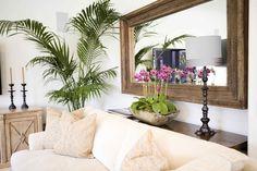 Turn Of The Century Havana Mirror and Tropical Foliage