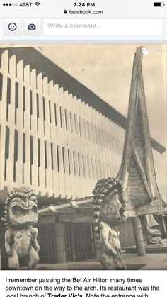 Trader Vic's in the Bel Air Hotel, St. St Louis Downtown, Hotel Bel Air, Vintage Tiki, Flower Cart, The Locals, Missouri, Vintage Photos, 1960s, The Neighbourhood