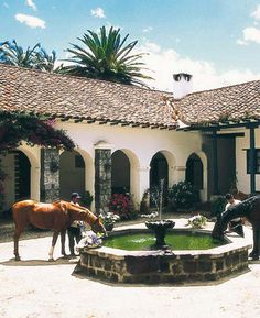 Hacienda Style Homes, Spanish Style Homes, Ranch Style Homes, Spanish Revival, Spanish House, Spanish Colonial, Horse Shelter, Horse Stables, Horse Barns