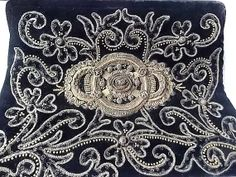 Vintage Soure Silver Thread Embroidery Purse by ourtimecapsule, $45.00