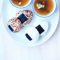 RECIPE : onigiri with roasted sweet potato & shiitake filling | jenny mustard