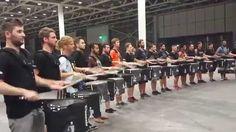 Top Secret Drum Corps of Basel meets the Blue Devil Percussion Team of C...
