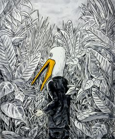 Modern Jungler II, 53x45.5cm, mixed media on canvas, 2015