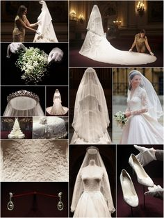 Kate Middleton's Wedding Dress On Display. – Alana Hicks-Amoroso Kate Middleton's Wedding Dress On Display. Wedding snapshots as Kate Middleton marries Prince William of Wales, grandson of Queen Elizabeth II. Kate Und William, Prince William And Catherine, Kate Middleton Wedding Dress, Kate Middleton Style, Royal Brides, Royal Weddings, Royal Wedding Cakes, Princesse Kate Middleton, Wedding Collage