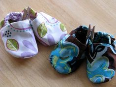 DIY baby shoes made from scrap cloth