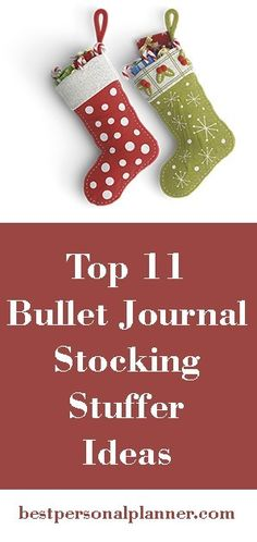 Top 11 Bullet Journal Stocking Stuffers, this list will help you find that amazing Holiday present your looking for to give to the journalist addict on your list. Bullet Journal Diy, Stocking Stuffers, Planners, Christmas Stockings, Amazing, Holiday, Top, Needlepoint Christmas Stockings, Vacations