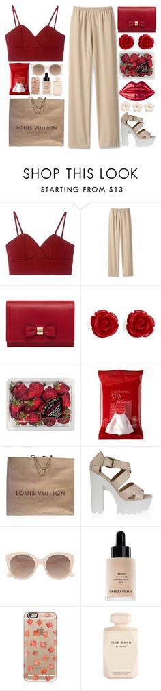 """Untitled #812"" by andreiasilva07 ❤ liked on Polyvore featuring Mulberry, Brooks Brothers, FRUIT, Koh Gen Do, Lulu Guinness, Louis Vuitton, Witchery, Giorgio Armani, Casetify and Elie Saab"