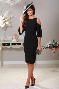 Lana Cold Shoulder Black Dress