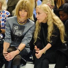 Thousands of people in the UK work in the fashion industry and this week is crucial to the success, or otherwise, of their latest collections. Everything hangs on the words of fashion journalists, like Vogue editor Anna Wintour (left), seen here at Mary Katrantzou's show.