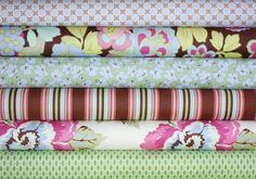 Gypsy Caravan quilt or craft fabric by Amy Butler- Fat Quarter Bundle, 6 total on Etsy, $18.00