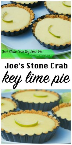 Joe's Stone Crab is one of the top 10 restaurants in Florida and their key lime pie is the best I've ever tasted. I recreated it at home and nailed it! (Best Pie Ever) Key Lime Desserts, Köstliche Desserts, Dessert Recipes, Lime Recipes, Copycat Recipes, Sweet Recipes, Best Key Lime Pie, Key Lime Pie Recipe Key West, Mini Key Lime Pies