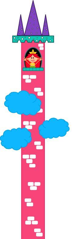Princesa Perlita, una de las protagonistas del cuento de hadas para niños UNA TORRE BAJO EL SOMBRERO. Perlita es una princesa que vive en una torre muy alta, más allá de las nubes.