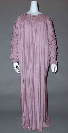 """""""Dress, pale purple, by Liberty & Co.  (British, founded London, 1875)  Date: 1890s Culture: British Medium: silk. Accession Number:1986.115.5"""""""