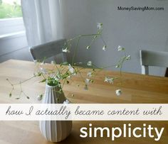 5 steps to finding contentment in living simply. There is a difference between living simply and being CONTENTwith living simply. See what works for this mom.