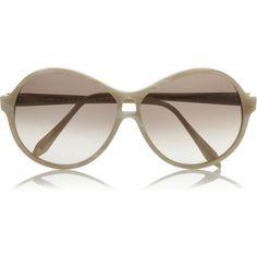Victoria Beckham Round-frame acetate sunglasses ($220) ❤ liked on Polyvore