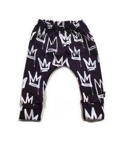 Gray with White Splashes Print Baby Harem Pants  Baby Leggings Free Shipping Worldwide Organic Cotton