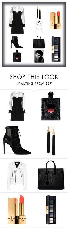 """Yves Saint Laurent Inspiration"" by sblabla on Polyvore featuring mode, Yves Saint Laurent, blackandwhite et yvessaitlaurent"