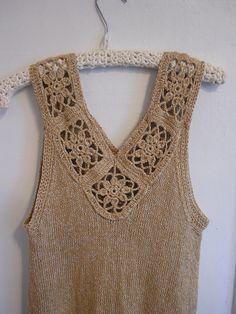 Ravelry yarnstarved s Knit Crochet Swing Tank Crochet Fabric, Crochet Blouse, Knit Crochet, Baby Boy Knitting Patterns, Crochet Patterns, Cotton Viscose, Shirts & Tops, Crochet Clothes, Refashion