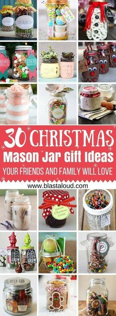 Soooo glad I found these amazing mason jar gift ideas for Christmas! If you love making gifts for your family and friends you HAVE to try these! #christmas #christmasgifts #masonjar #masonjargifts #giftideas #giftinajar