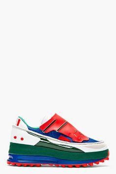 Raf Simons Blue  Red Platform Adidas Edition Sneakers for men | SSENSE