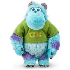 Disney Sulley Mini Bean Bag Plush - Monsters University - 8 1/2'' >>> You can find more details by visiting the image link. (This is an affiliate link) #StuffedAnimalsTeddyBears