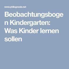 Beobachtungsbogen Kindergarten: Was Kinder lernen sollen