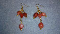 Burnt orange agate earrings www.facebook.com/KimsGlitteringGems