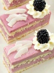 Blackberry Coconut Cakes