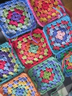 I really want to learn how to make granny squares so I can do bright colors.  I just can't get the hang of crochet.  I need a super teacher. I  just can't get it from books and videos.