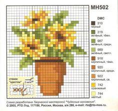 Flowerpot perler bead pattern