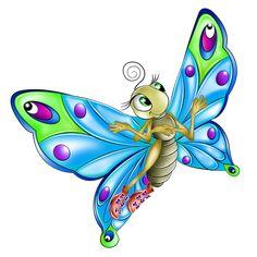 Клипарт бабочки с красивыми крыльями
